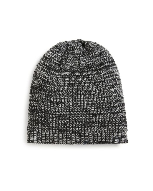 Block Headwear - Black Marled Knit Beanie for Men - Lyst