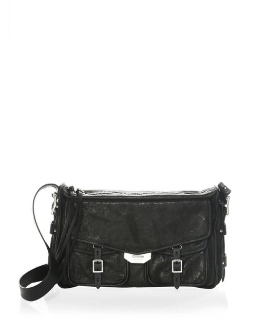 Rag & Bone   Black Field Leather Messenger Bag   Lyst
