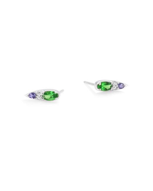 Nikos Koulis - Multicolor Spectrum 18k White Gold & Diamond Earrings - Lyst