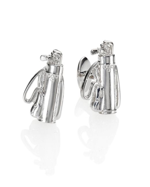 David Donahue - Metallic Sterling Silver Golf Bag Cuff Links for Men - Lyst