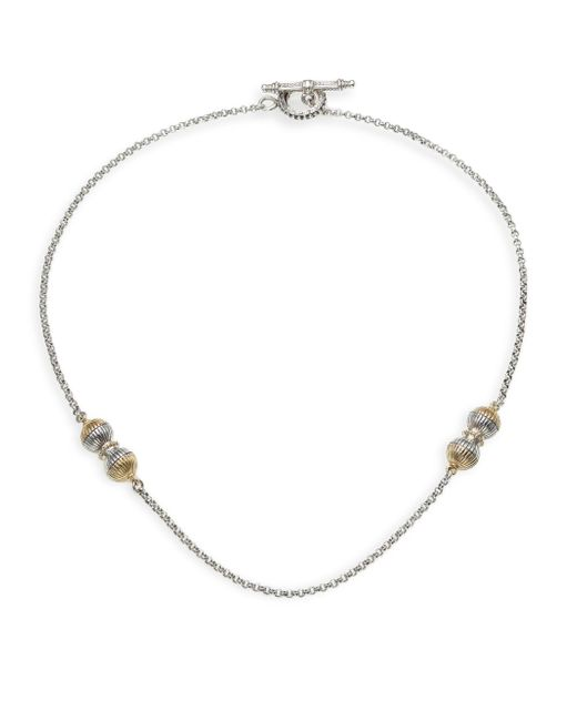 Konstantino - Metallic Hebe 18k Yellow Gold & Sterling Silver Chain Necklace - Lyst