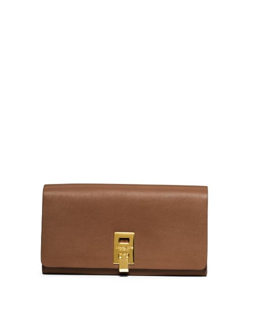 Michael Kors - Brown Miranda Leather Continental Wallet - Lyst