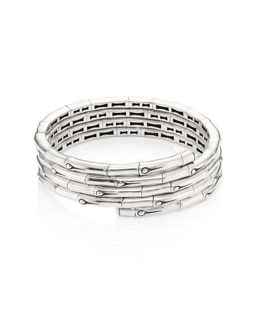 John Hardy - Metallic Bamboo Sterling Silver Coil Bracelet - Lyst