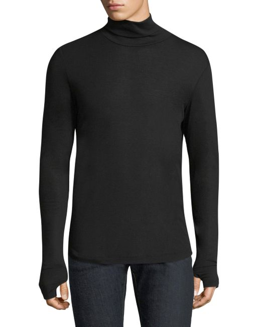 Theory | Black Heathered Turtleneck Sweater for Men | Lyst