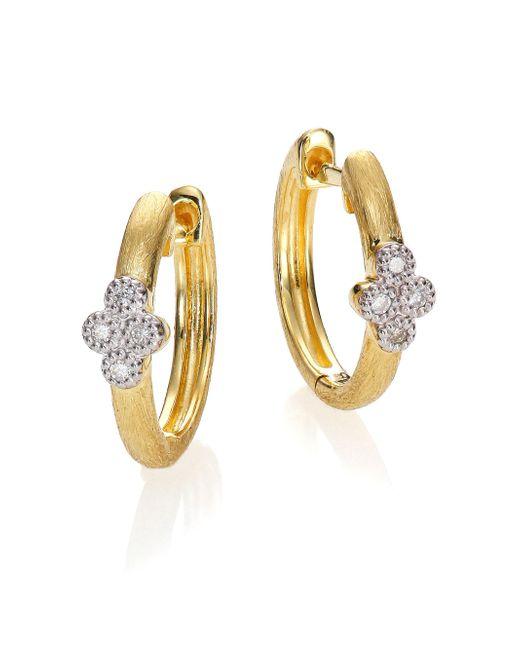 Jude Frances - Metallic Provence Diamond & 18k Yellow Gold Small Hoop Earrings/0.65 - Lyst