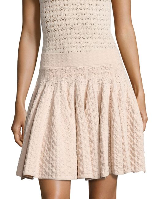 A.L.C. | Natural Lana Pointelle-knit Skirt | Lyst