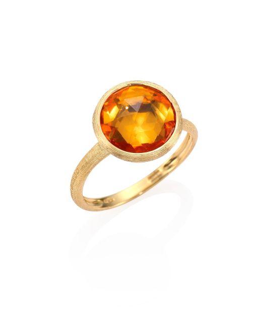 Marco Bicego | Metallic Citrine & 18k Yellow Gold Medium Stackable Ring | Lyst
