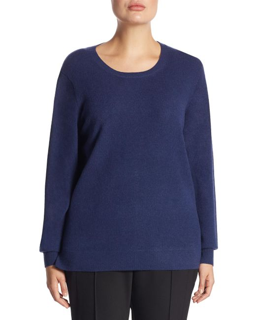 Saks Fifth Avenue - Blue Collection Crewneck Cashmere Knitted Sweater - Lyst