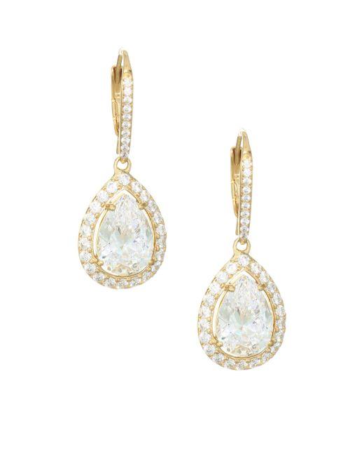 Adriana Orsini - Metallic 18k Goldplated Sterling Silver Framed Pear Earrings - Lyst