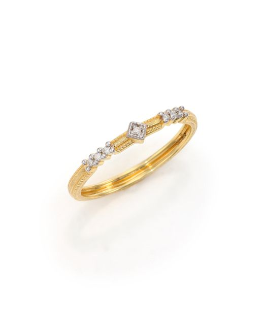 Jude Frances - Metallic Lisse Diamond & 18k Yellow Gold Ring - Lyst