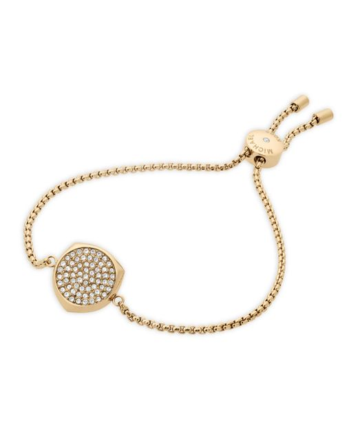 Michael Kors | Metallic Beyond Brilliant Pave Slider Bracelet/goldtone | Lyst