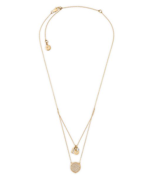Michael Kors | Metallic Beyond Brilliant Layered Pendant Necklace | Lyst