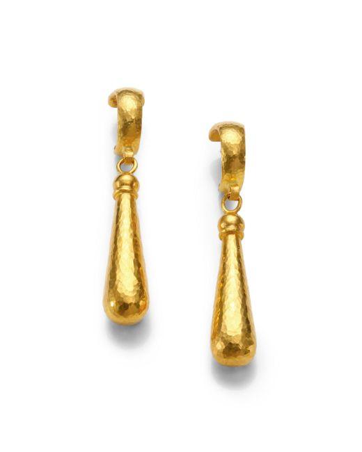 Gurhan - Metallic 24k Yellow Gold Teardrop Earrings - Lyst
