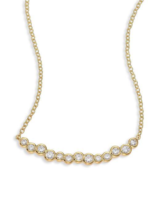 Ippolita | Metallic Glamazon Stardust Diamond & 18k Yellow Gold Skinny Smile Bar Necklace | Lyst
