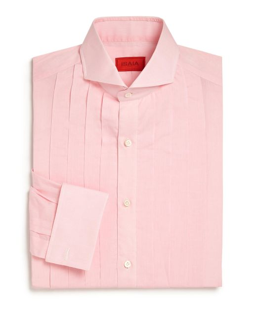 Isaia - Pink Slim-fit Riva Tuxedo Shirt for Men - Lyst