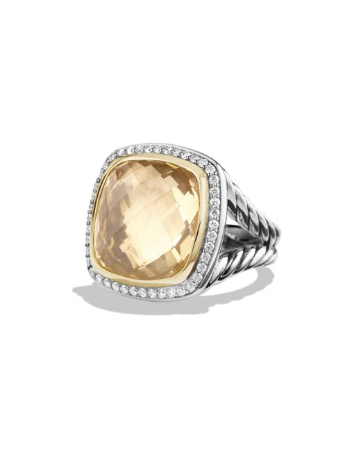 David Yurman - Metallic Albion Ring With Champagne Citrine, Diamonds And 18k Gold - Lyst