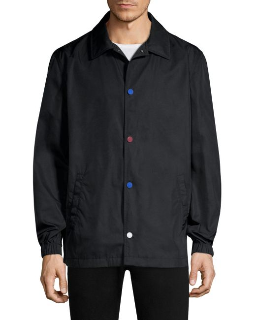 Tommy Hilfiger - Black Flag Print Coach Jacket for Men - Lyst