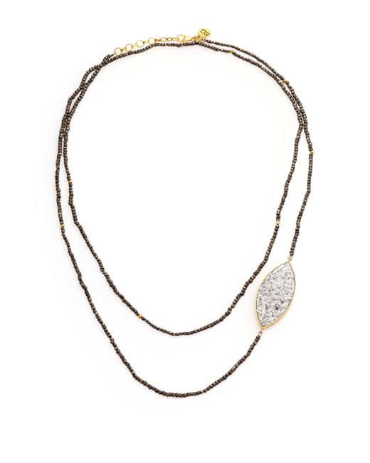 Shana Gulati | Metallic Banjara Sirsi Sliced Raw Diamond & Pyrite Necklace | Lyst