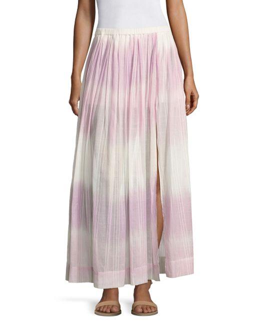 Lemlem - Pink Berhan Ombre Skirt - Lyst