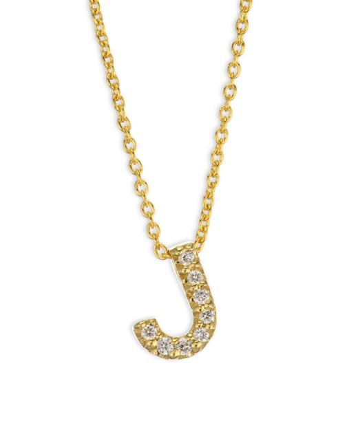 Roberto Coin - Metallic Tiny Treasures 18k Yellow Gold & Diamond Letter A Necklace - Lyst