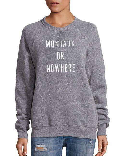Knowlita - Gray Montauk Or Nowhere Graphic Sweatshirt - Lyst