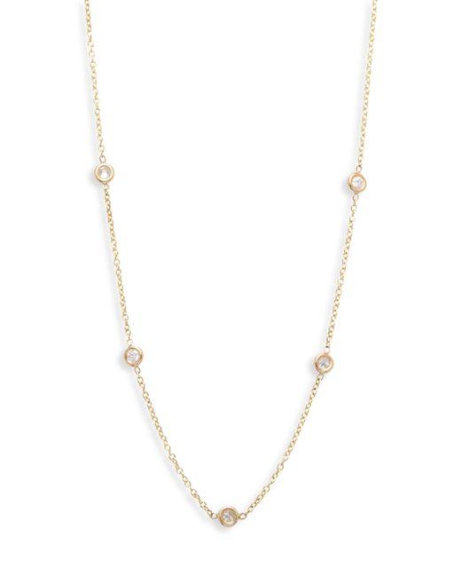 Zoe Chicco - Metallic Diamond & 14k Yellow Gold Station Necklace - Lyst