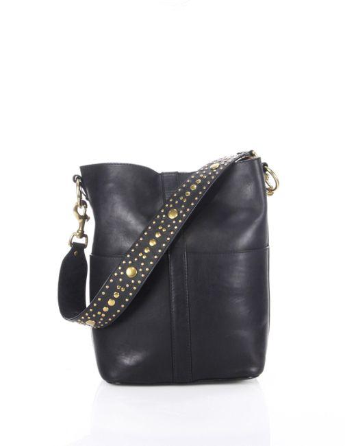 Frye - Black Ilana Studded Leather Hobo Bag - Lyst