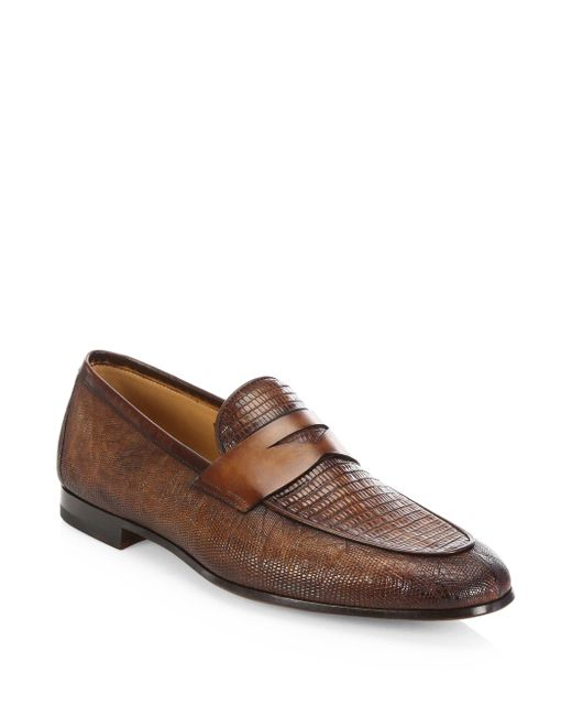 Saks Fifth Avenue - Brown Collection By Magnanni Leather Loafers for Men - Lyst