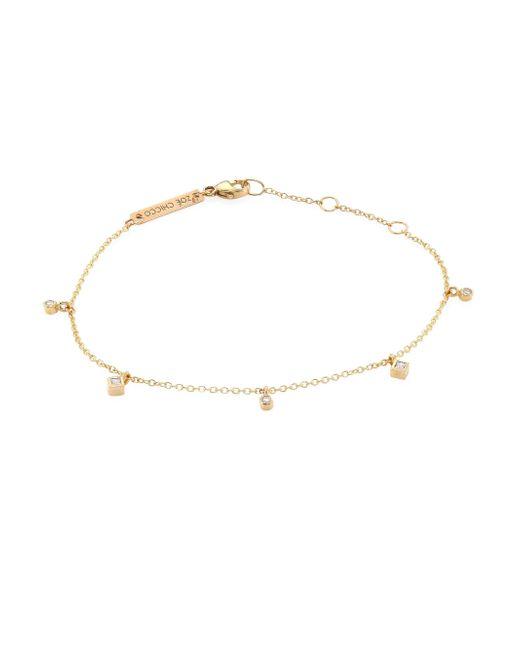 Zoe Chicco - Metallic Diamond & 14k Yellow Gold Bracelet - Lyst
