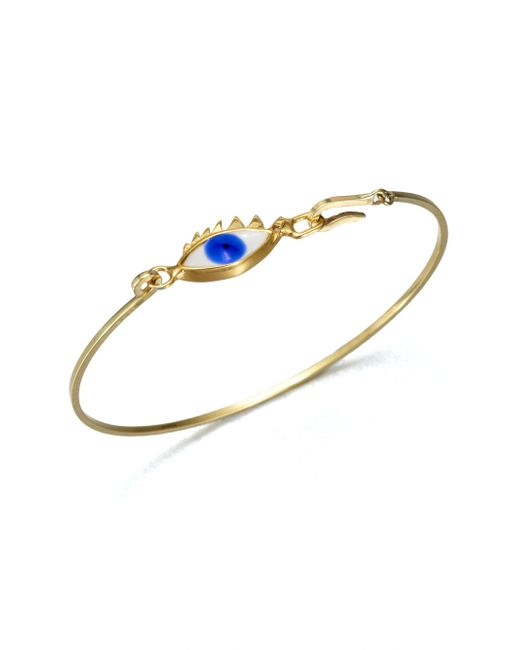 Delfina Delettrez - Metallic Eye Bangle Bracelet - Lyst