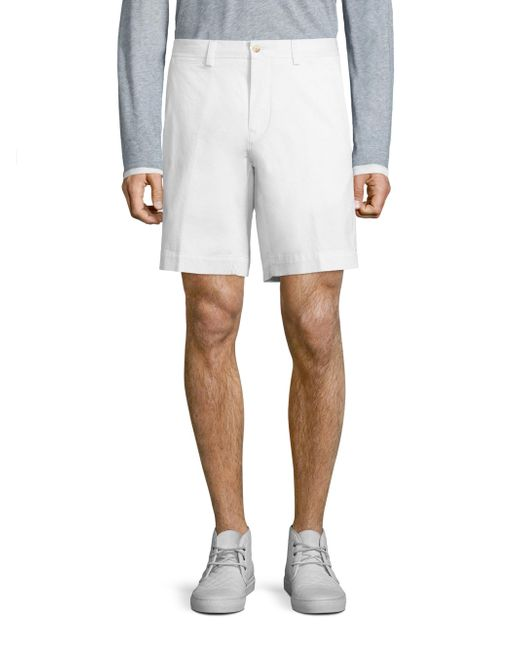 Polo Ralph Lauren White Suffield Solid Shorts for men