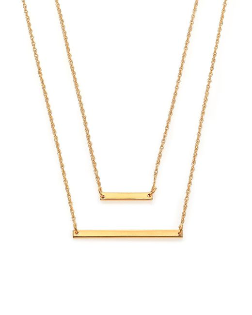 Jennifer Zeuner | Metallic Cynthia Bar Double-wrap Necklace | Lyst