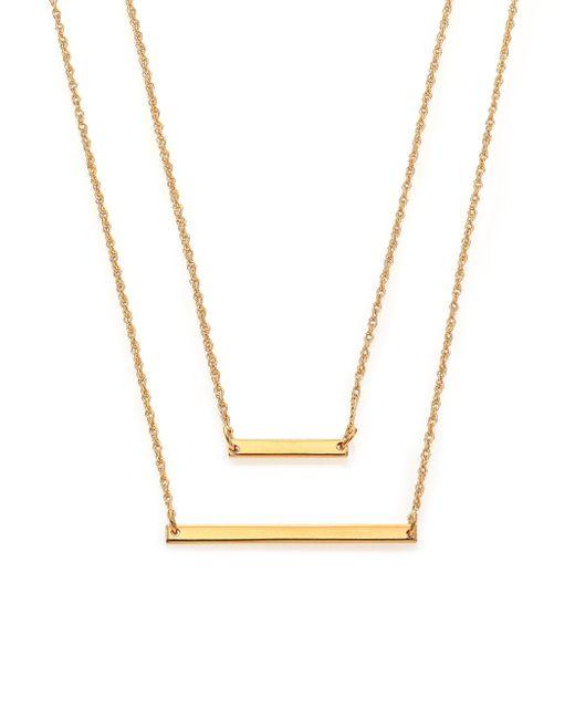 Jennifer Zeuner - Metallic Cynthia Bar Double-wrap Necklace - Lyst