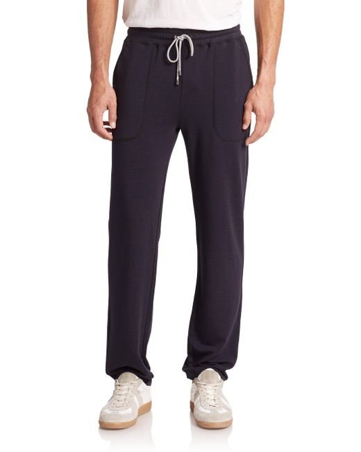 Saks Fifth Avenue - Black Jersey Sweatpants for Men - Lyst