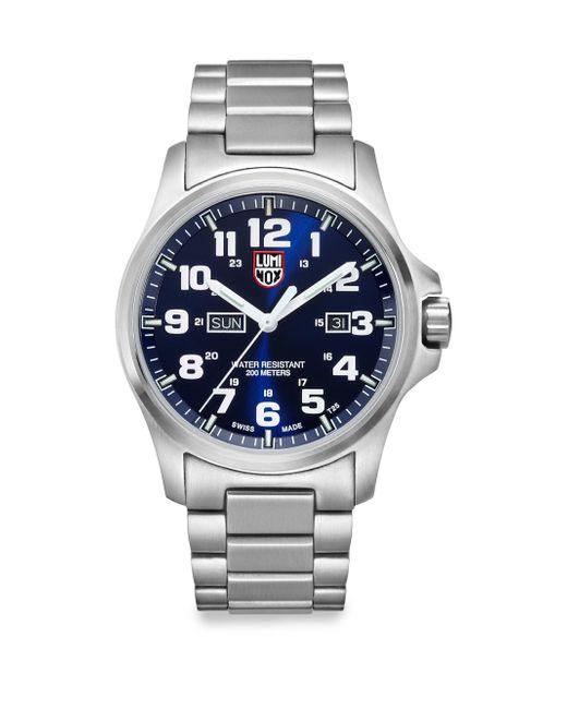 Luminox - Metallic Illuminated 24/7 Collection Bracelet Watch for Men - Lyst
