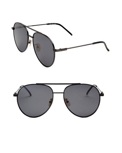 Fendi - Gray 55mm Aviator Sunglasses - Lyst