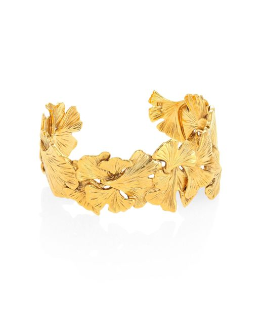 Aurelie Bidermann   Metallic Tangerine Cuff Bracelet   Lyst