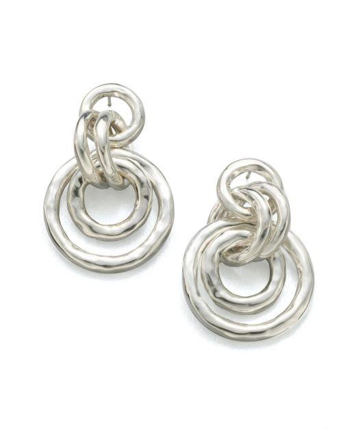 Ippolita - Metallic Glamazon Sterling Silver Mini Jet Set Drop Earrings - Lyst