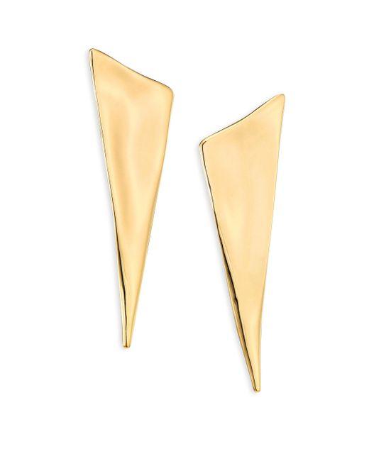 Alexis Bittar | Metallic Liquid Gold Angled Pyramid Earrings | Lyst