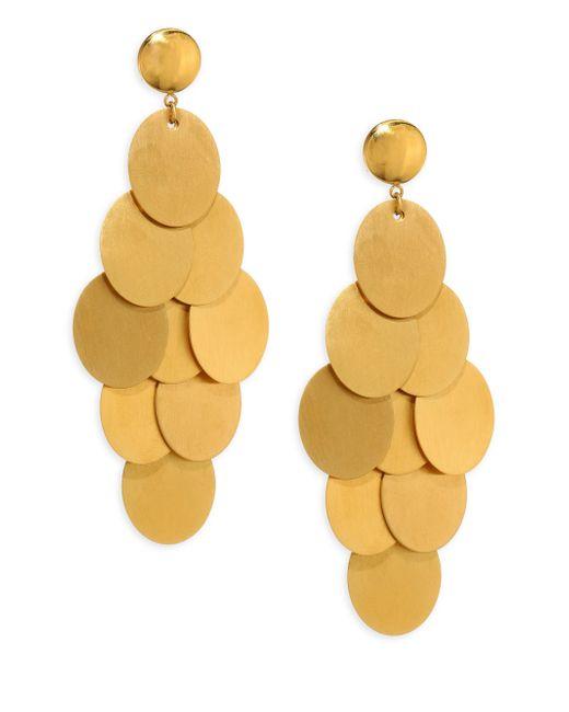Nest - Metallic Brushed Chandelier Earrings - Lyst