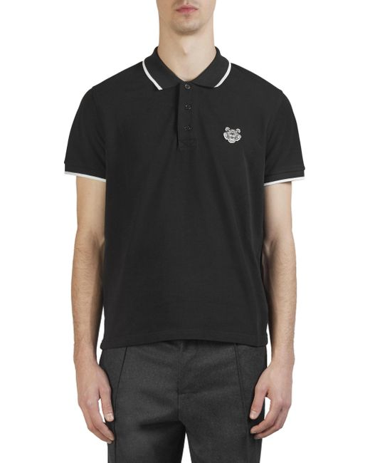 KENZO - Black 'tiger' Polo Shirt for Men - Lyst