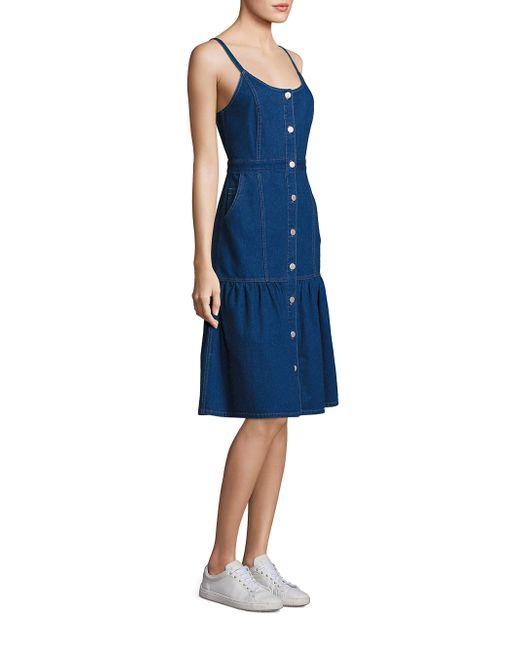 Suno   Blue A-line Denim Dress   Lyst