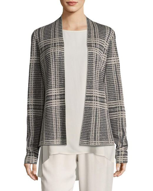 Eileen Fisher | Multicolor Printed Shaped Cardigan | Lyst