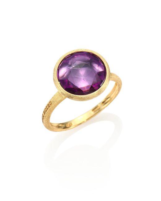 Marco Bicego | Purple Jaipur Amethyst & 18k Yellow Gold Medium Stackable Ring | Lyst