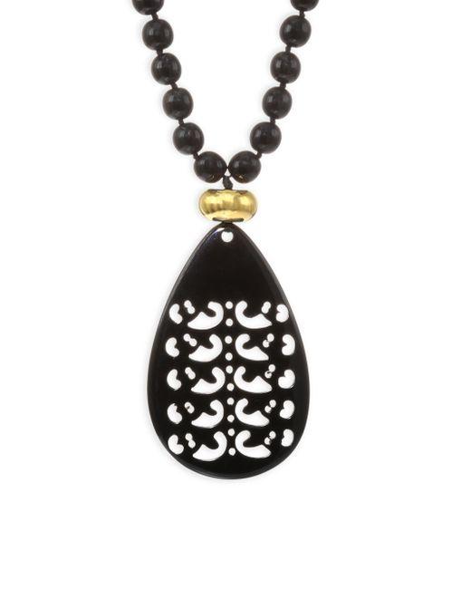Nest - Black Horn Teardrop Necklace/32 - Lyst