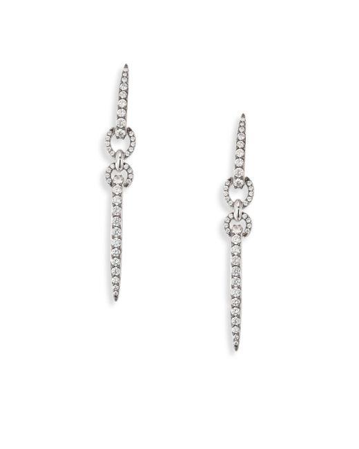 Adriana Orsini | Metallic Eva Linear Crystal Drop Earrings | Lyst