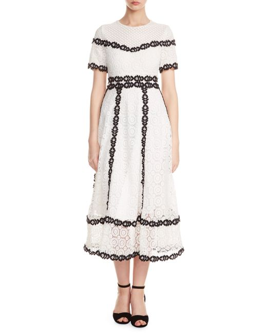 Maje - White Rowan A-line Dress - Lyst