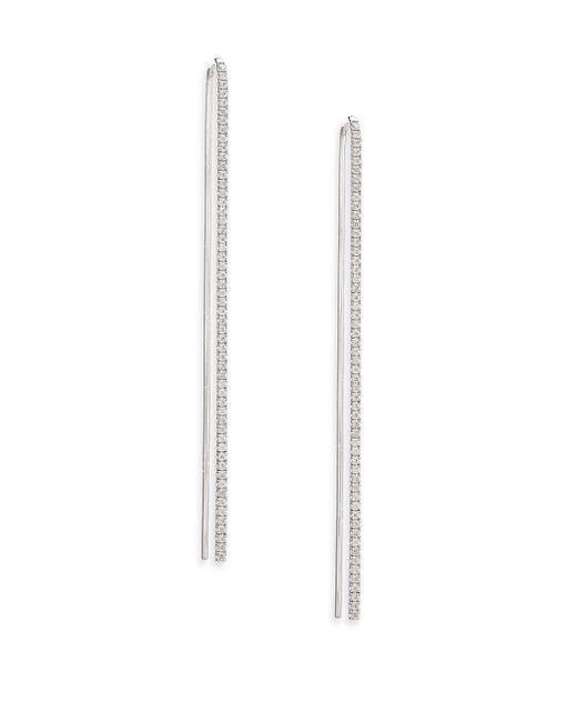 Meira T - Metallic Diamond & 14k White Gold Drop Earrings - Lyst