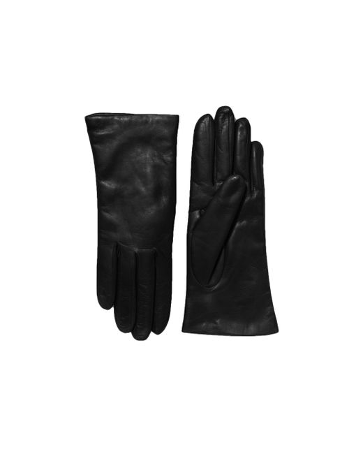 Saks Fifth Avenue - Black Cashmere-lined Leather Gloves - Lyst