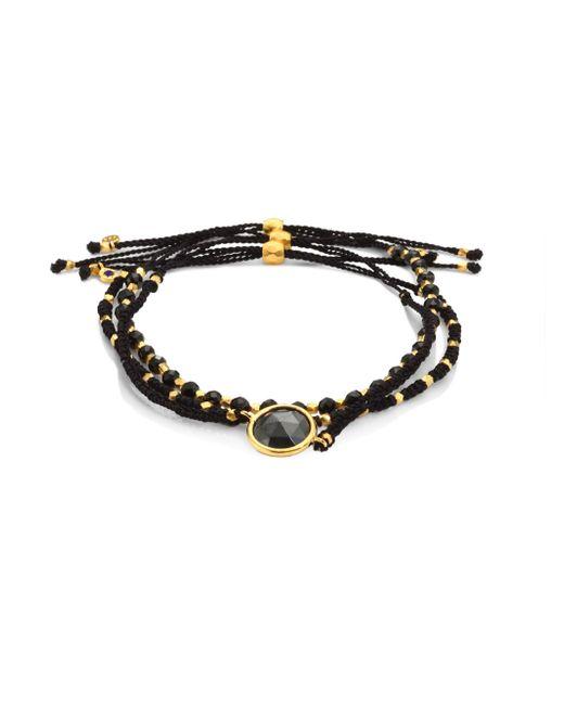 Astley Clarke - Biography Rock 'n' Roll Hematite & Black Spinel Silken Beaded Bracelet - Lyst